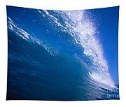 Blue Translucent Wave Tapestry