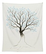 Blue Tree Tapestry