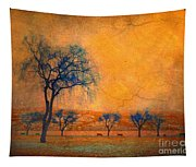 Blue Trees And Dreams Tapestry
