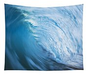 Blue Wave Tube Blur Tapestry