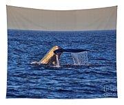 Blue Whales Tail Tapestry