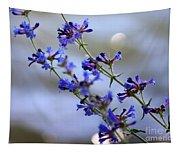 Blue Wildflowers Over Rimrock Lake Tapestry