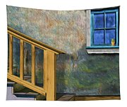 Blue Window Sill Tapestry