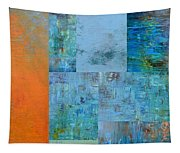Blue With Orange 2.0 Tapestry