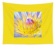 Blue Yellow Lily  Tapestry