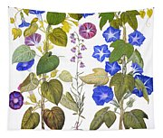 Bluebell And Morning Glory Tapestry