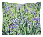 Bluebell Bluebells Flowers Blooming In Spring Tapestry