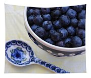 Blueberries And Spoon  Tapestry