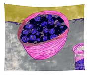 Blueberries In A Bowl Tapestry