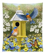 Bluebird Garden Home Tapestry