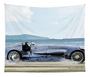Bluebird II, 1928, World Record Land Speed Record At Pendine Sands, Wales, 178.88 Mph Tapestry
