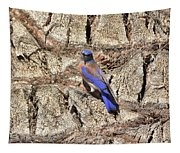 Bluebird On Canary Island Palm I Tapestry
