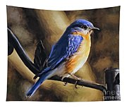 Bluebird Portrait Tapestry