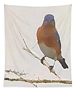 Bluebird Stare  Tapestry by Shelli Fitzpatrick