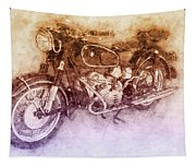 Bmw R60/2 - 1956 - Bmw Motorcycles 2 - Vintage Motorcycle Poster - Automotive Art Tapestry