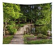 Boardwalk Bridge Maymont Japanese Garden Tapestry