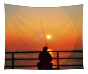 Boardwalk Fishing Tapestry