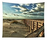 Boardwalk On The Beach Tapestry