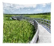 Boardwalk Through The Dunes Prince Edward Island Tapestry