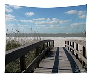 Boardwalk To The Beach Tapestry
