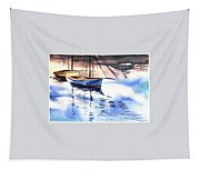 Boat And The River Tapestry