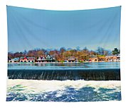 Boat House Row From Fairmount Dam Tapestry