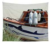 Boat Shark Decoration Donegal Tapestry