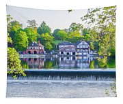 Boathouse Row - Framed In Spring Tapestry