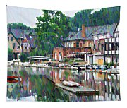 Boathouse Row In Philadelphia Tapestry