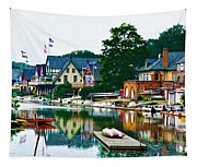 Boathouse Row In Philly Tapestry