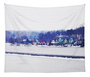 Boathouse Row In Winter Tapestry
