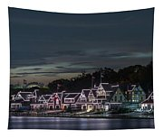 Boathouse Row Philly Pa Night Tapestry