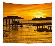 Boathouse Sunset Tapestry