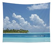 Boating In A Tahitian Lagoon Tapestry