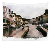 Boats Anchored Tapestry