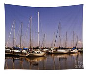 Boats And Reflections Tapestry