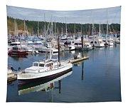 Boats At Friday Harbor Tapestry