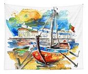 Boats In Tavira In Portugal 02 Tapestry