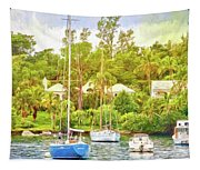 Boats In Waiting Tapestry