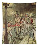 Bob Cratchit Went Down A Slide On Cornhill Tapestry