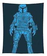 Boba Fett - Star Wars Art, Blue Tapestry