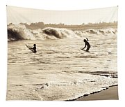 Body Surfing Family Tapestry
