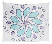 Boho Floral Mandala 4- Art By Linda Woods Tapestry