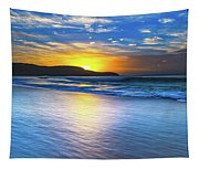 Bold And Blue Sunrise Seascape Tapestry