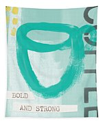 Bold And Strong In Blue- Art By Linda Woods Tapestry