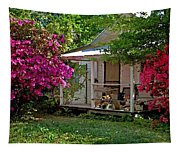 Bon Secour Pink Porch Tapestry