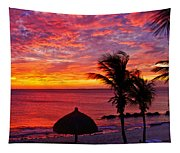 Bonaire Sunset 1 Tapestry