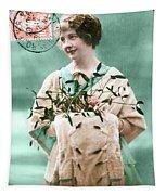 Bonne Annee Vintage Woman Tapestry