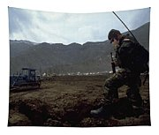 Boots On The Ground Tapestry