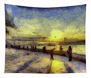 Bosphorus Sunset Art Tapestry